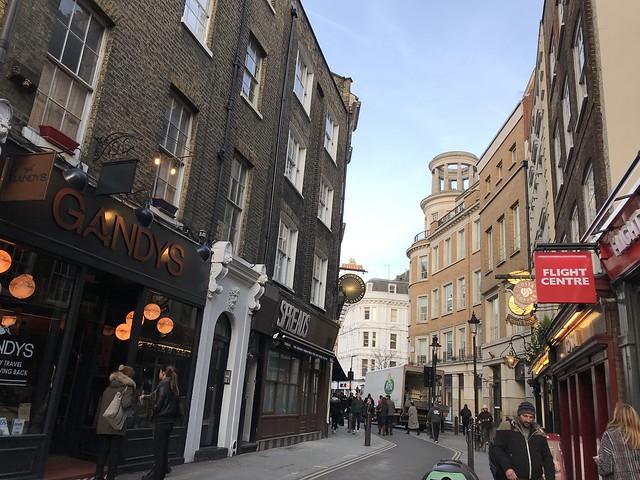 London street,  March 21, 2018