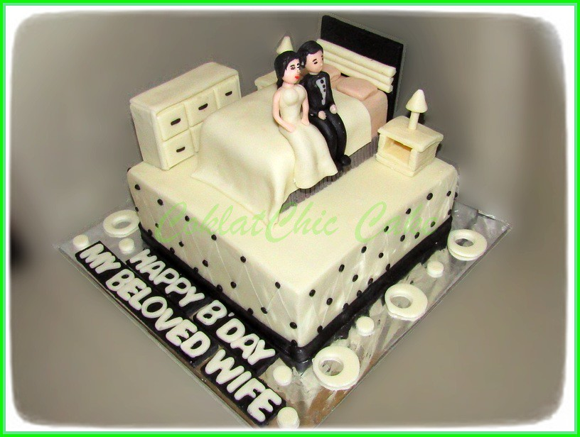 Cake Couple Bedroom BELOVED WIFE 15 cm