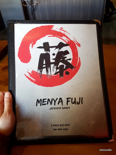 Menya Fuji menu cover