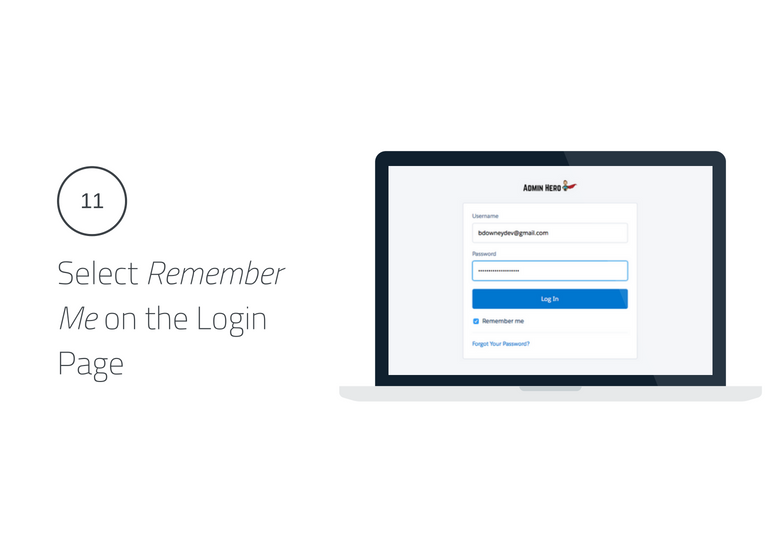 Select Remember Me on the Login Page Lightning Login