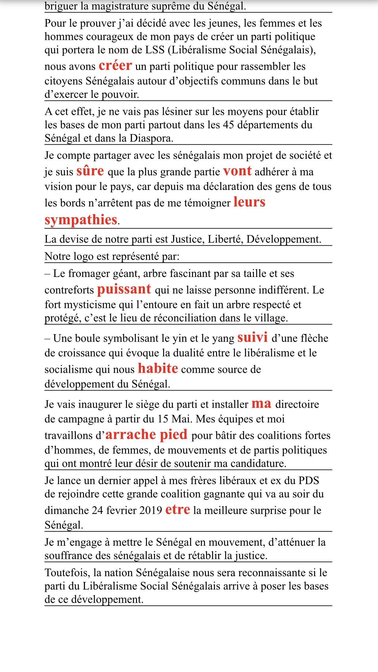 Samuel Sarr et ses quatorze fautes de français2
