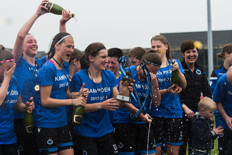 Club Brugge Vrouwen A Kampioen 17-18