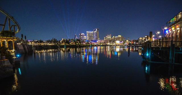 USJ Osaka skyline night