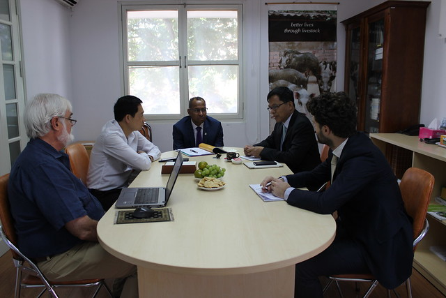ILRI and Myanmar officials discuss collaboration opportunities in livestock development