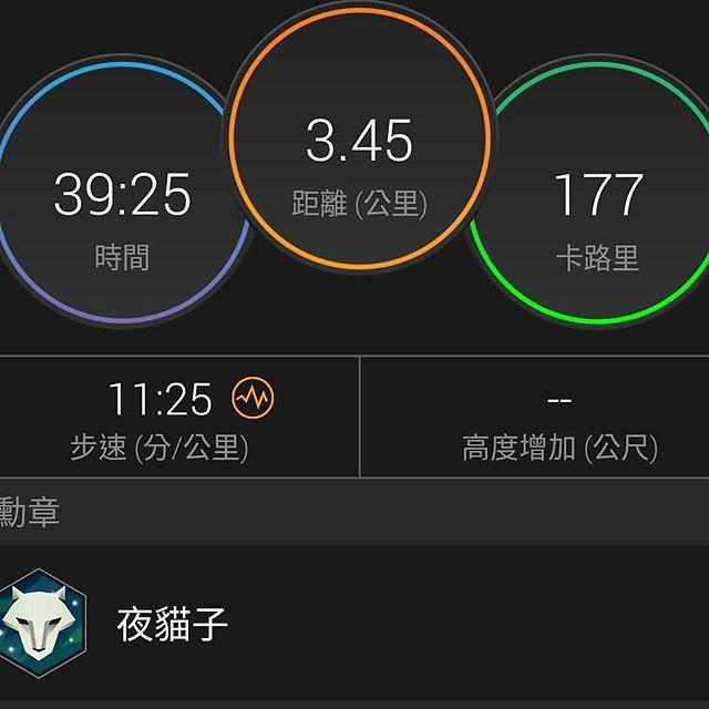 20180423 今日運動加碼 跟老戴夜間散步 40min / 3.45km #有運動沒在怕的 #運動使人開心 #夫妻一起動