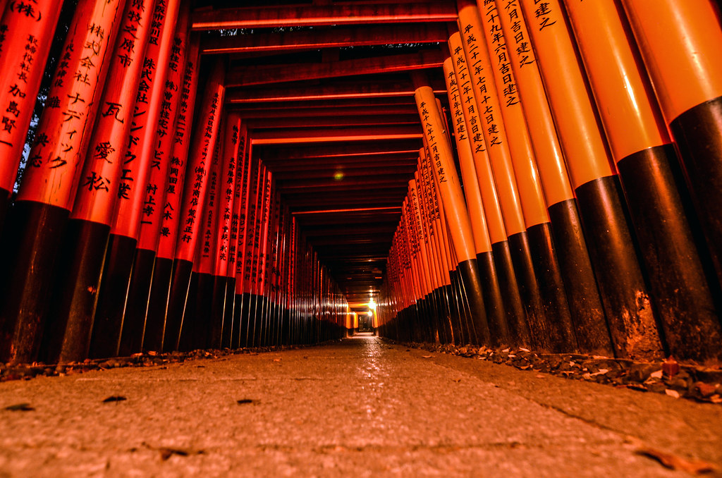 Fushimi Inari night ground