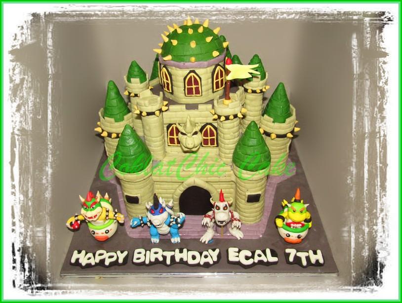 Cake Bowser Castle 2x20 cm