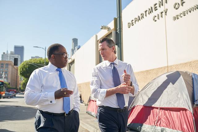 Mark Ridley-Thomas and Gavin Newsom