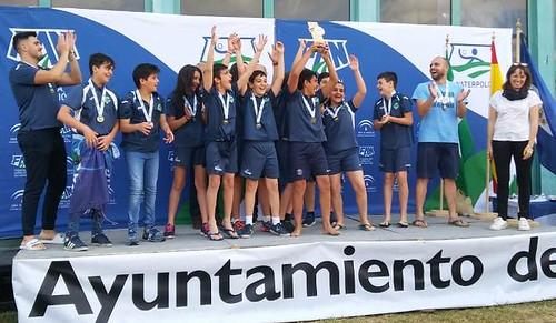 Alevines Waterpolo Dos Hermanas campeones de Andalucía