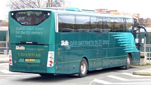 YT16 JLU 'Skills Coaches'. Scania / Lahden (Finland) OmniExpress /4 on Dennis Basford's railsroadsrunways.blogspot.co.uk'