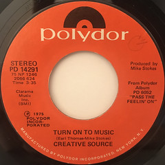 CREATIVE SOURCE:PASS THE FEELIN' ON(LABEL SIDE-B)