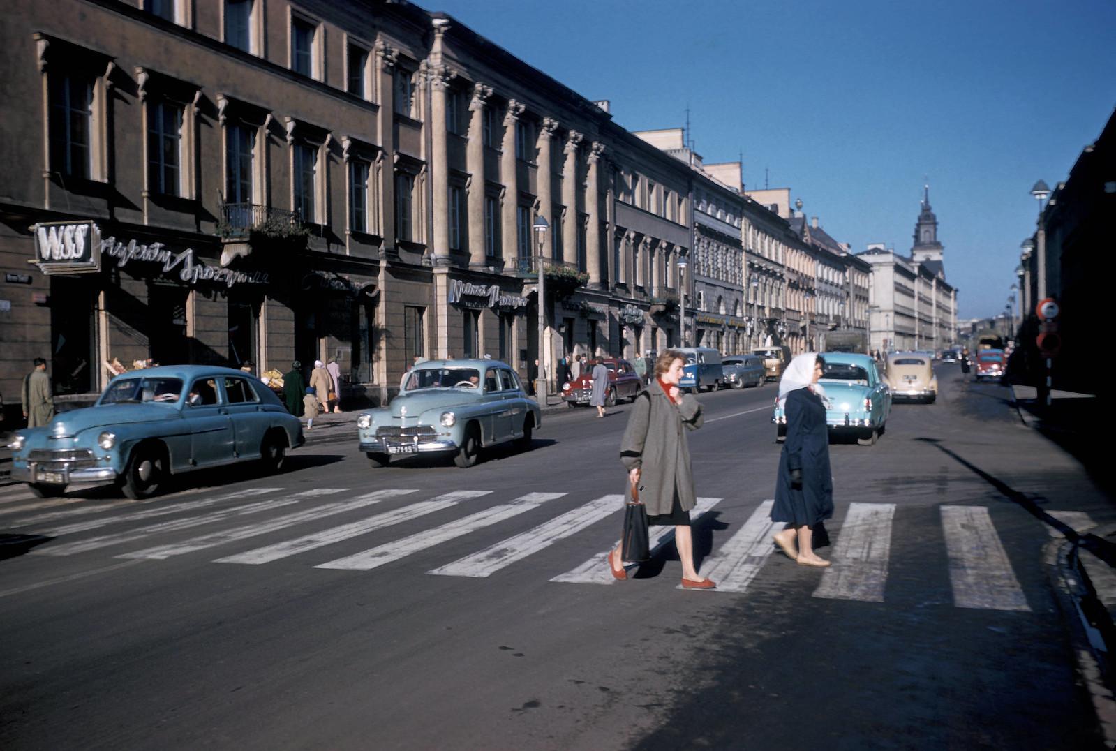 1959 год. Варшава. Ул. Новый Свет.