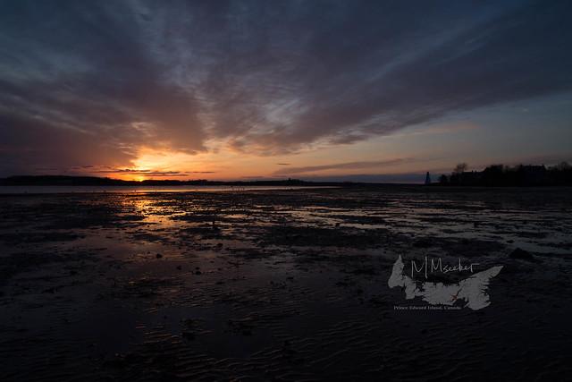 a sun-setting on the beach