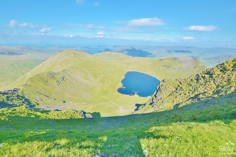 Helvellyn walk back via Striding Edge - Lake District
