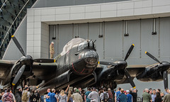 Removing the Canopy Cover from Avro Lancaster Mark X Heavy Bomber at the Great British Fly-In
