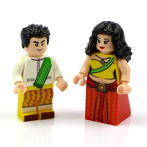 Minifigures Bride and Groom Narzeczeni 02