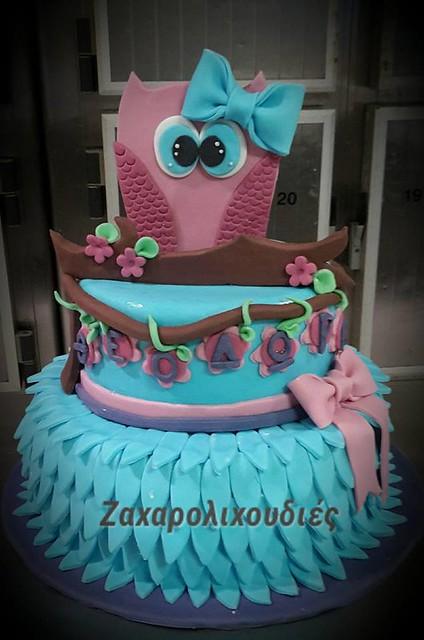 Owl Cake by Ζαχαρολιχουδιές Χίος