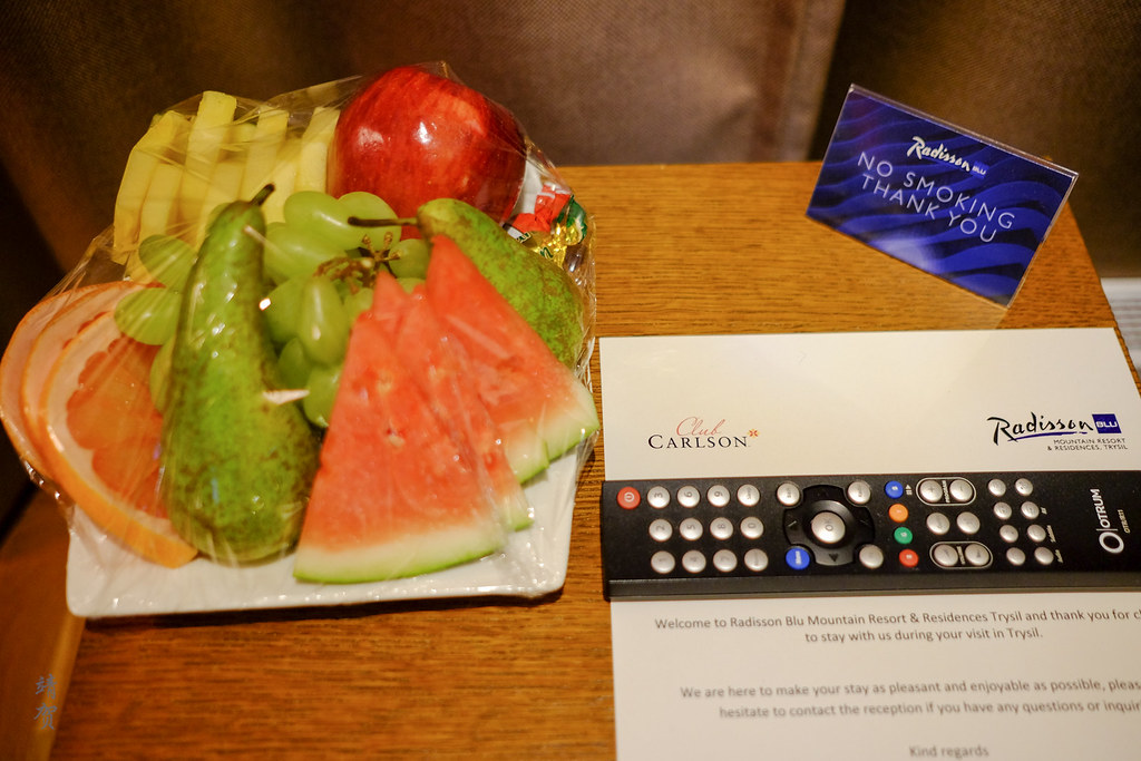 Fruit platter amenity