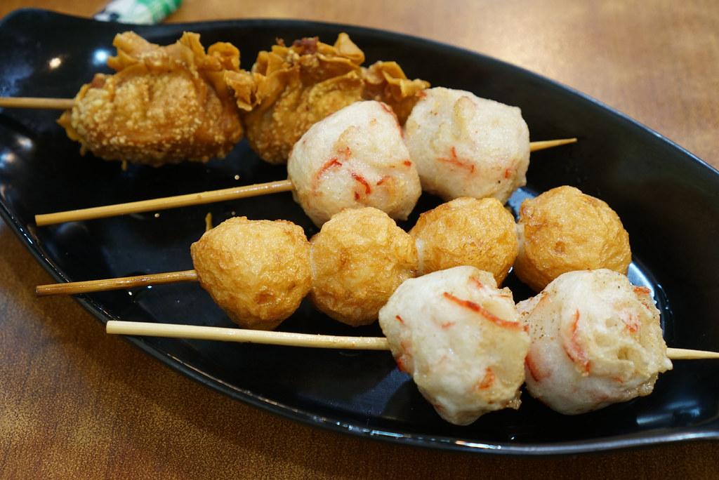 Fried wonton, lobster balls, squid balls at Eat Fresh Hong Kong Street Food