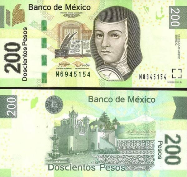 200 Pesos Mexiko 2007, P125b