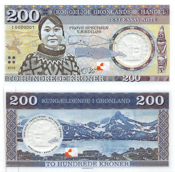Svalbard (Špicbergy - Nórsko) 200 kroner 2018 polymer