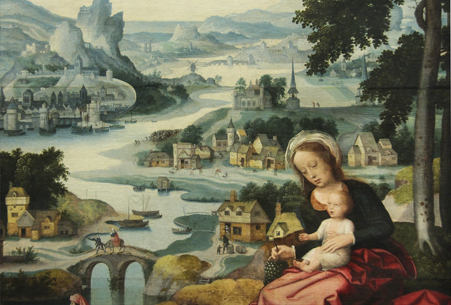 Detail - The Rest on the Flight into Egypt, Sudniederlandisch, 1520-30