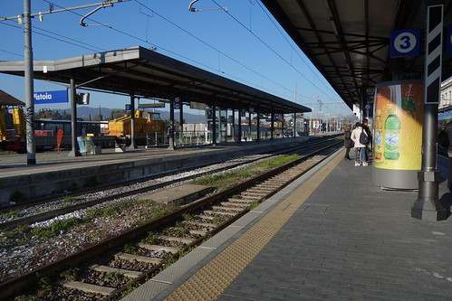 Waiting for the train to Montecatini Terme at the Pistoia Station - Tuscany, Italy