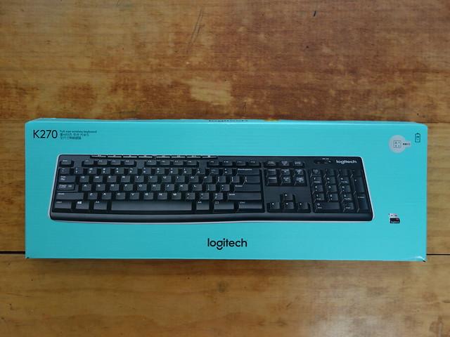 外包裝@羅技Logitech K270無線鍵盤