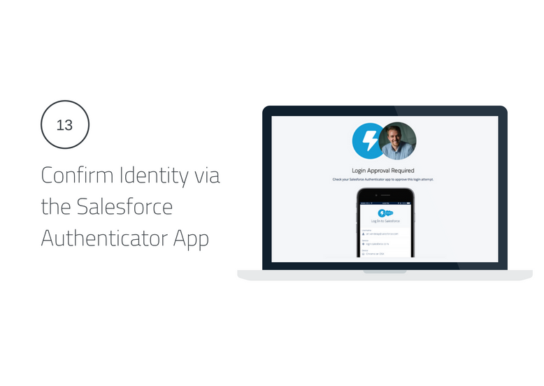Confirm Identity via the Salesforce Authenticator App Lightning Login
