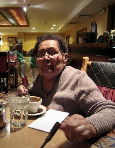 My mom, Flora Sombrero Lind, 2009, Kayenta, AZ. One year before she passed.