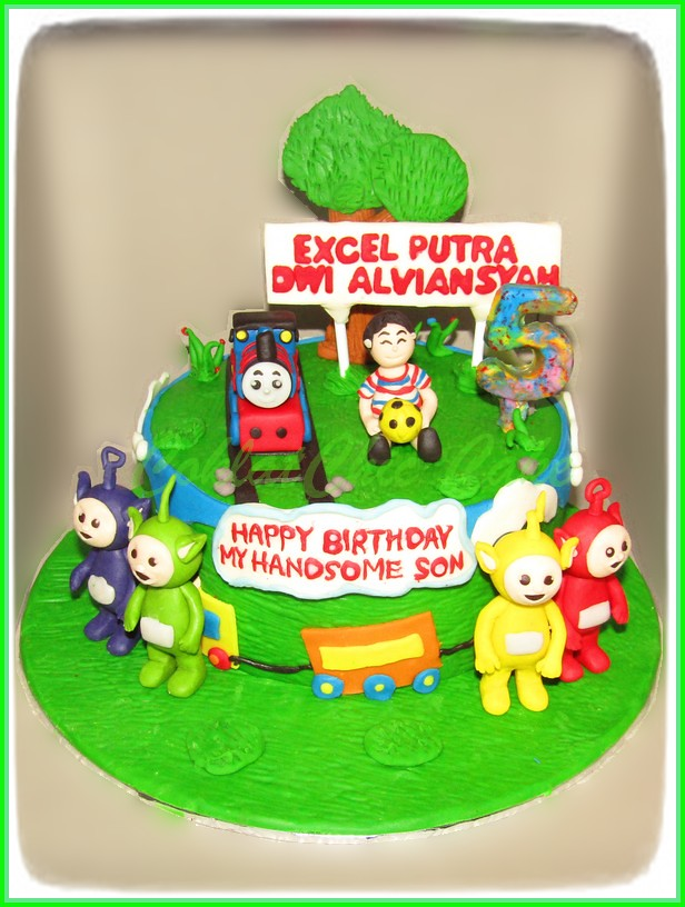 Cake Thomas The Tank Engine & Teletubies EXCEL 15 cm