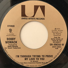 BOBBY WOMACK:NOBODY WANTS YOU WHEN YOU DOWN AND OUT(LABEL SIDE-B)