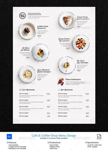 Food infographic - Clean Menu White Wood - Food Menus Print Templates Download here : graphicriver....