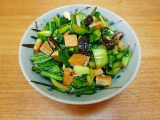 Baby Bok Choy and Shiitake Mushroom Stir-Fry
