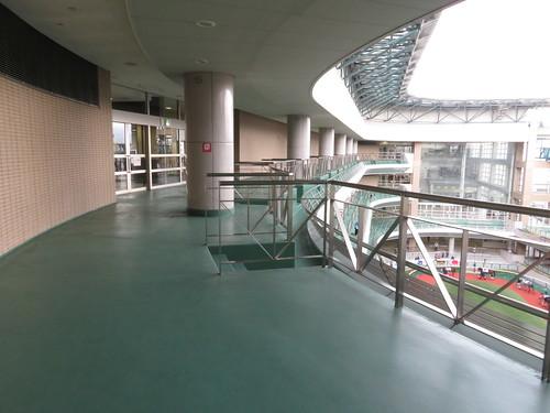 福島競馬場のパドック5階バルコニー