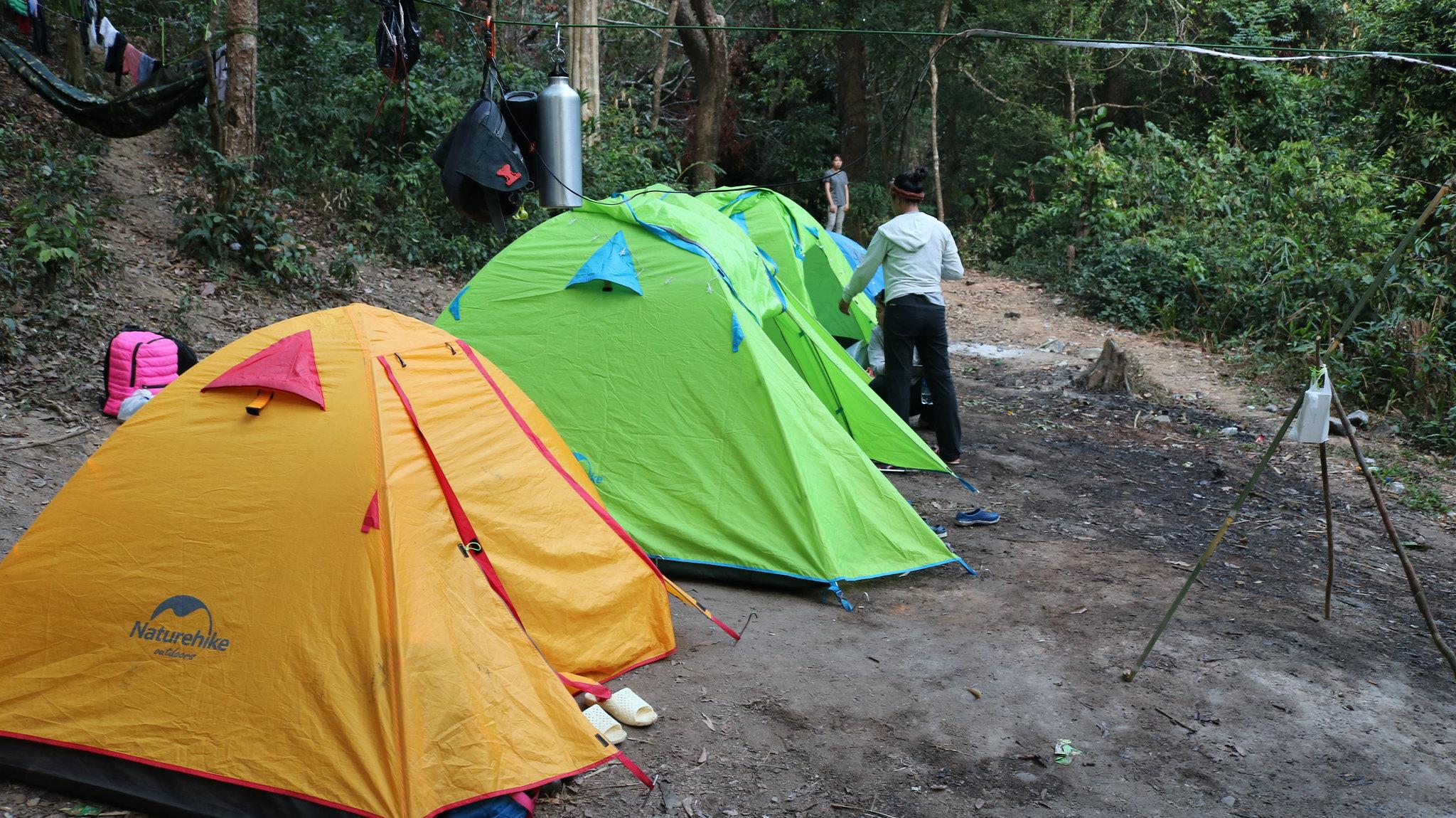 Cắm trại bên bờ suối