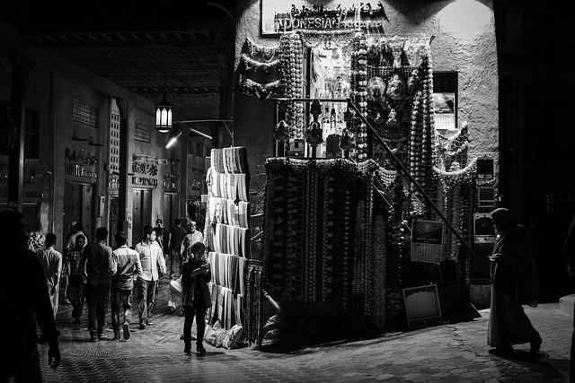 A Shadow Scene - Dubai Textile Souq - Leica M10