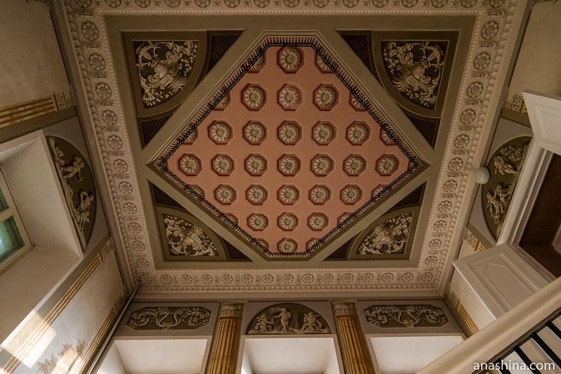 Роспись потолка парадной лестницы, усадьба Золотаревых-Кологривовых, Калуга