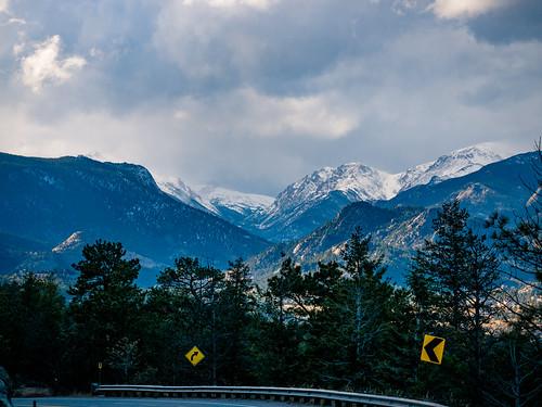 snow mountains rockies estes park rocky rmnp colorado