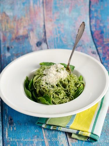 Spaghetti mit Spinatpesto (1)