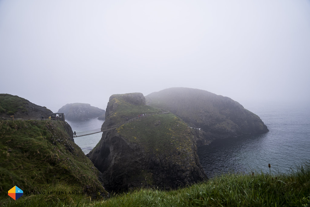Carrick-A-Rede Rope Bridge from afar
