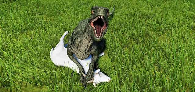 Jurassic World Evolution - Raptor Feeding