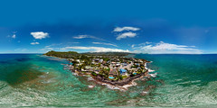 Kupikipiki'o (Black Point) from my DJI Mavic Pro hovering 179 feet up and 179 feet out - an aerial 360° Equirectangular VR.