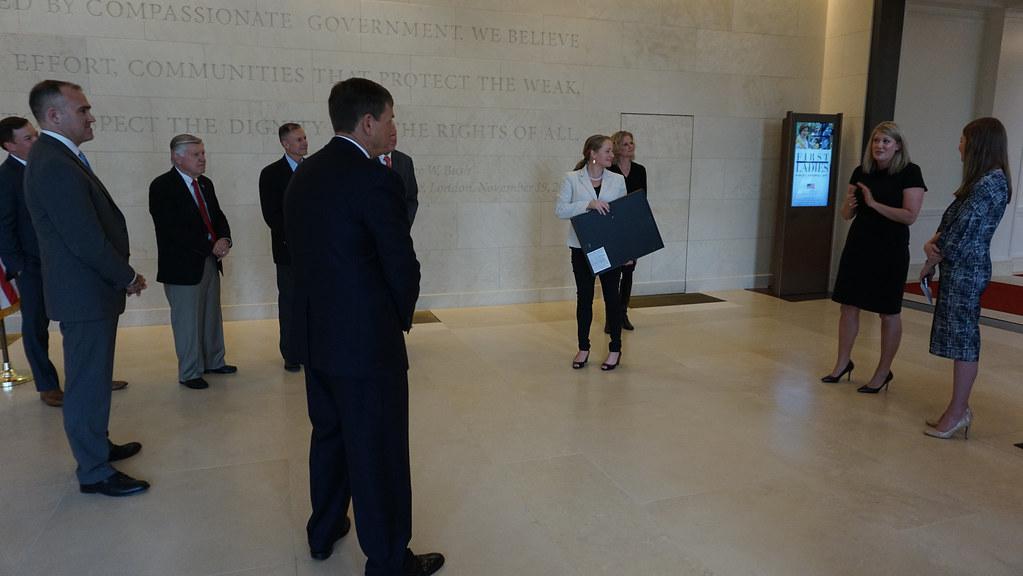 President George W. Bush Foundation Check Presentation