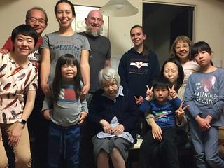 Sukiyaki Dinner with the Tanaka's, Evans', and Garcia's
