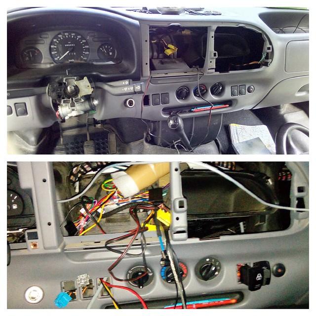 câblage de l'autoradio