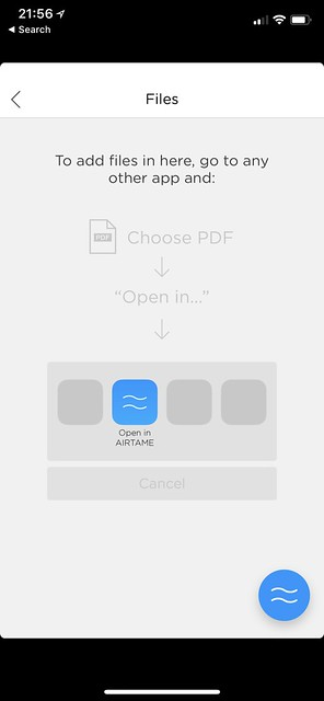 Airtame iOS App - Files