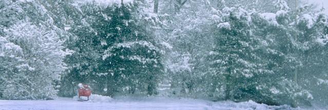 Suburban snow scene 96