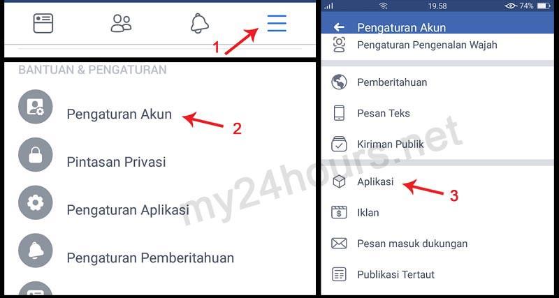 Pengaturan Setting Aplikasi Facebook di Android.