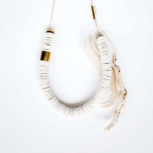 Seed Bomb and Leaf Necklace by Jody Dunphy